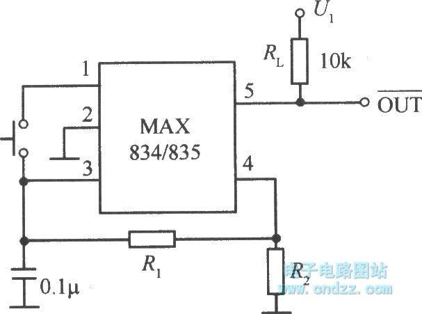 max834  835 typical application circuit - basic circuit - circuit diagram