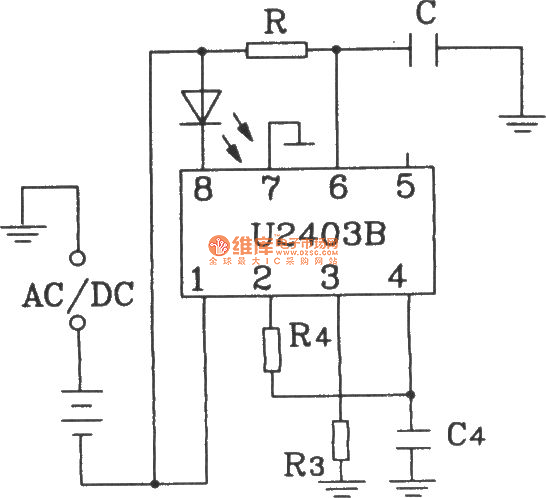 typical application circuit of u2403b constant source charging timer