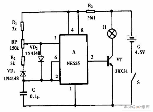 flashlight retrofitting light modulator circuit - amplifier circuit - circuit diagram