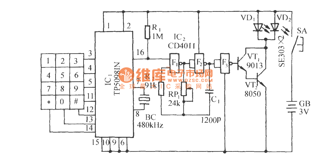 Pulse Dialing Eight Roads Infrared Remote Control Circuit Diagram Seekiccom Circuitdiagram Automotivecircuit Soundgeneratorcircuit