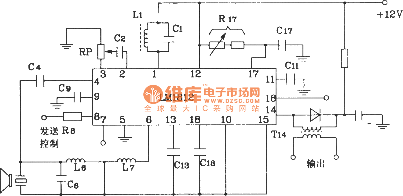 Car Reversing Anti Collision Alarm Circuit Diagram Composed Of The Schematic Door Lm1812