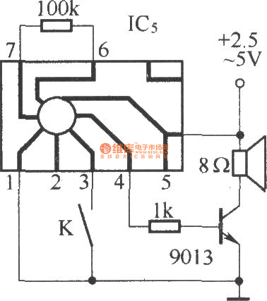 against electric shock language warning circuit diagram, Circuit diagram