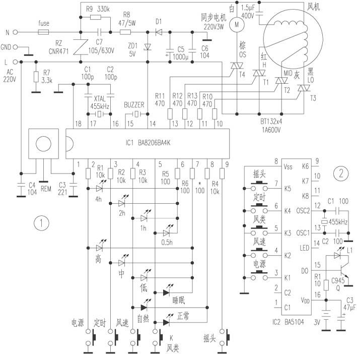 Fusibo Deluxe Remote Control Landing Fan Circuit Diagram