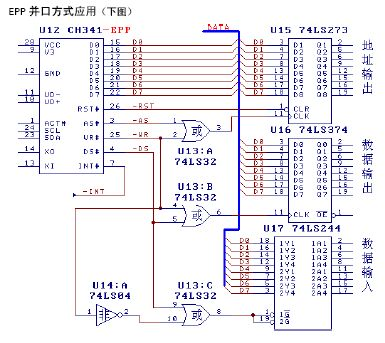 usb to parallel serial circuit diagram ch341 basic circuit Parallel Port Schematic usb to parallel serial circuit diagram ch341