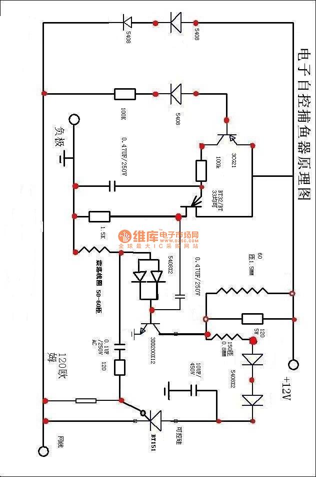 fishing device 1 - electrical equipment circuit - circuit diagram