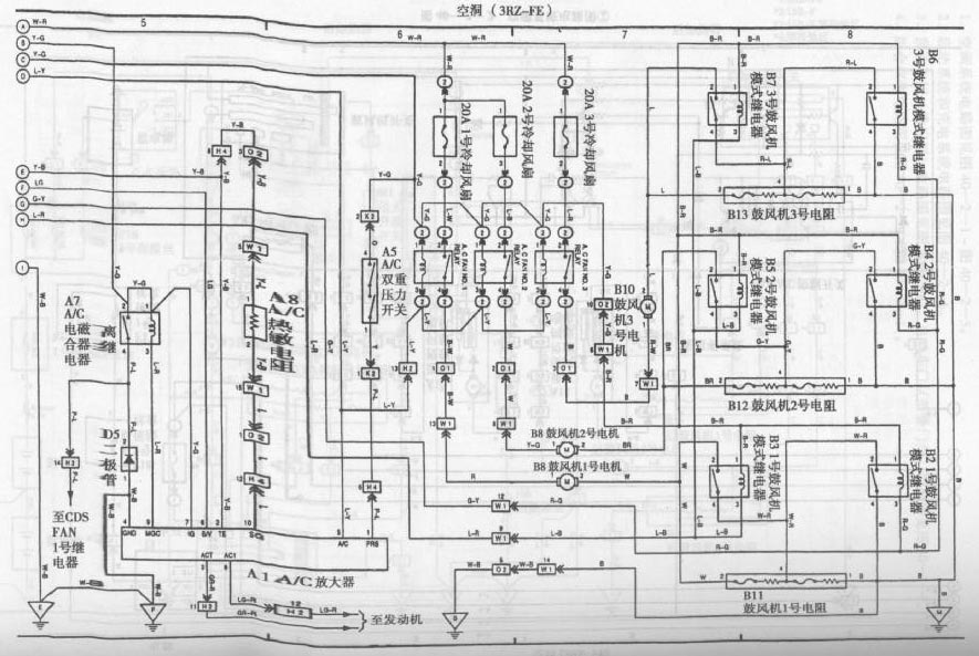 toyota coaster bus air conditioning system circuit diagram 3 Air Conditioner Circuit Breaker Wiring