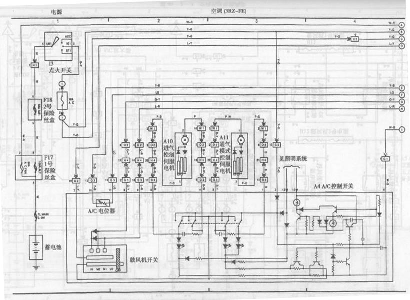 toyota coaster bus air conditioning system circuit diagram 2 Air Conditioner Circuit Breaker Wiring