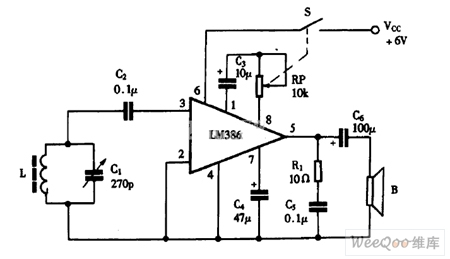 Using LM386 as single chip radio circuit diagram on remote control amplifier