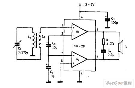 using kd 28 as single chip radio circuit diagram audio. Black Bedroom Furniture Sets. Home Design Ideas