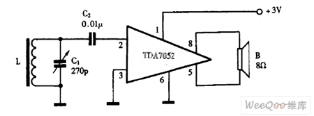 Using_TDA7052_as_single_chip_radio_circuit_diagramon Audio Power Amplifier Circuit Diagram