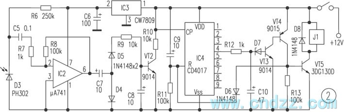 Simple Remote Control For Home Appliances Circuit Diagram