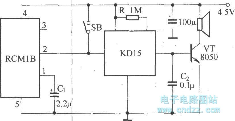 voice remote control doorbell transceiver module composed