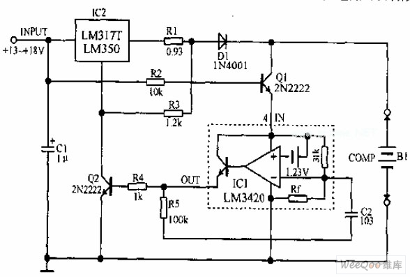 lithium ion battery charging circuit diagram - battery charger - power supply circuit