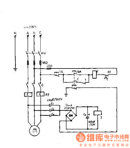 A power saving three phase asynchronous motor phase for 3 phase motor protection