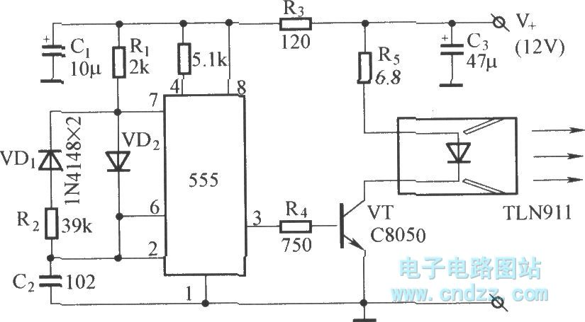 long-range infrared remote circuit diagram - automotive circuit - circuit diagram