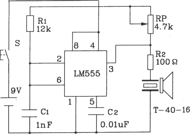 t  r-40 series of universal ultrasonic transmitting  receiving sensor circuit diagram