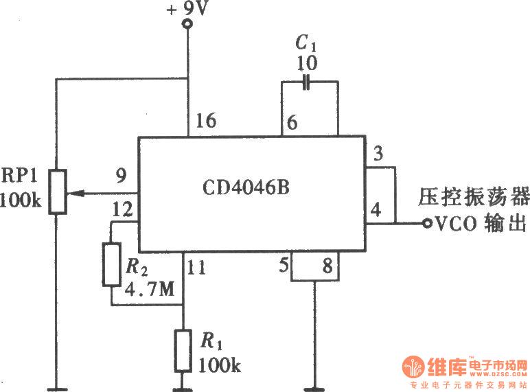 circuit with cd4046 basic diagram seekic