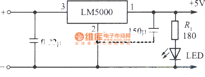 3a regulated power supply circuit composed of lm5000