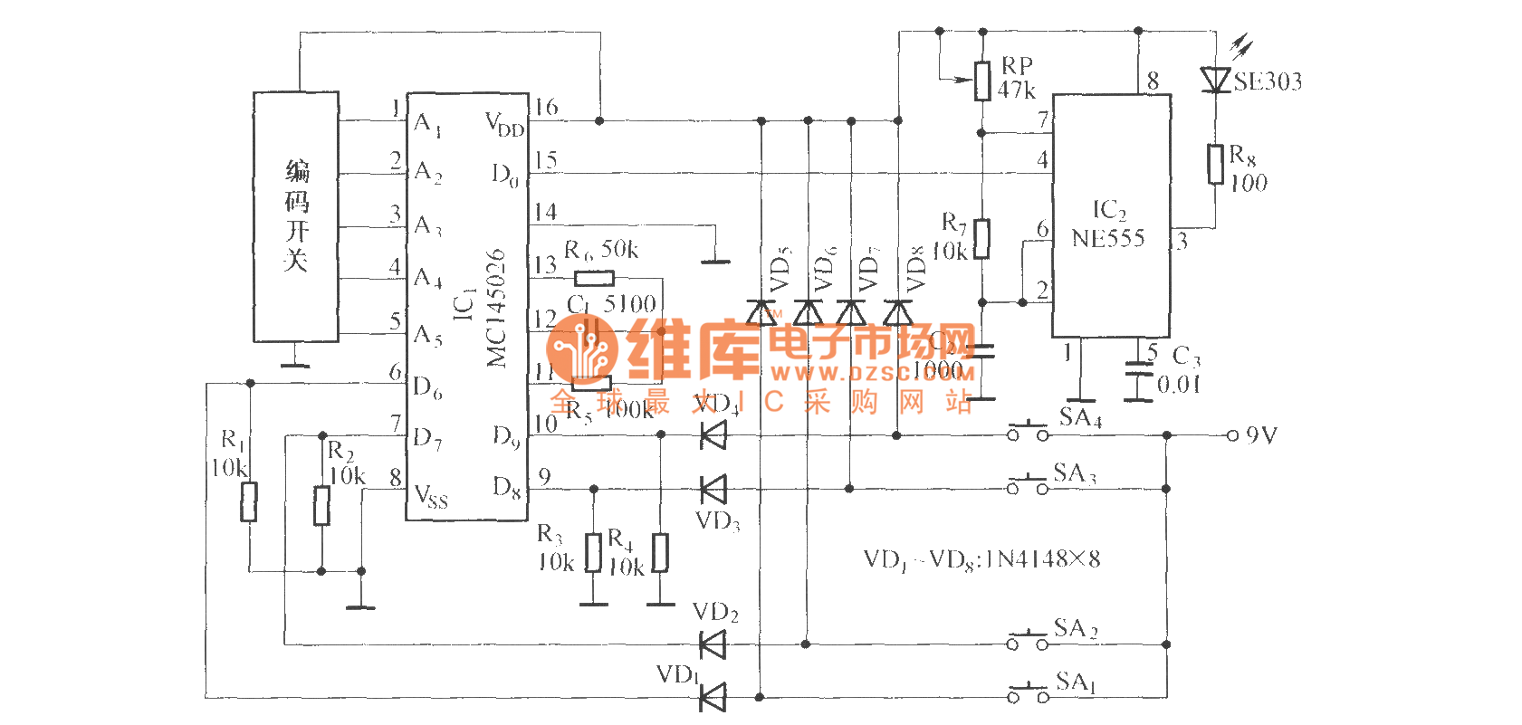 Dual Channel Volume Remote Control Potentiometer Circuit Diagram Wiring Power