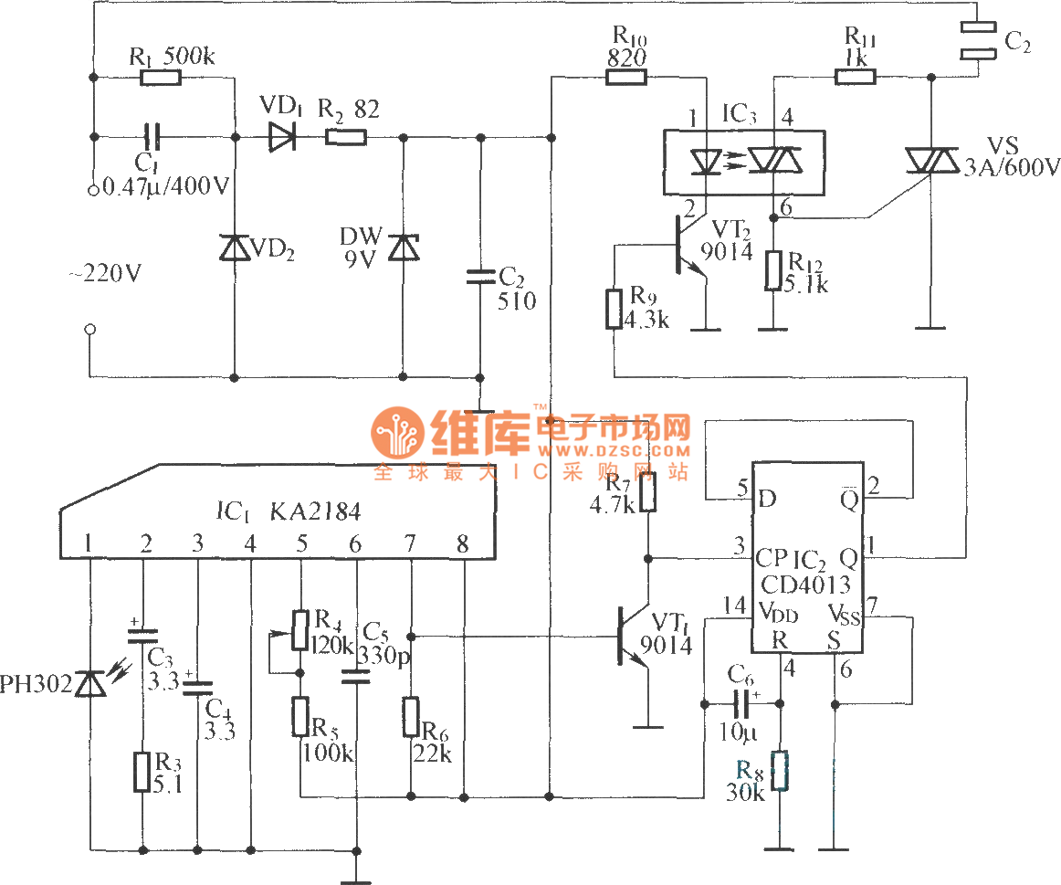 Opto Coupler Infrared Remote Control Power Supply Outlet Circuit Irremotecontrolcircuitdiagram2jpg Diagram