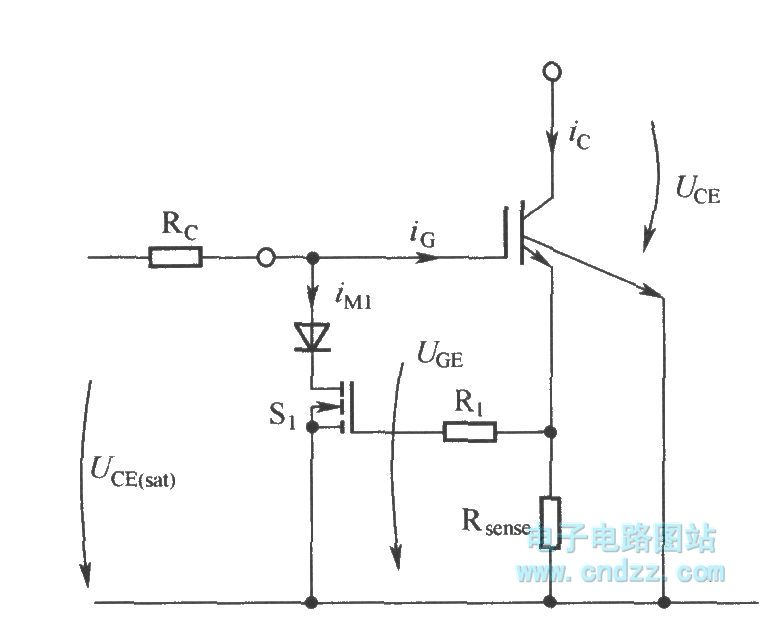 limiting short circuit current by reducing igbt grid-emission voltage