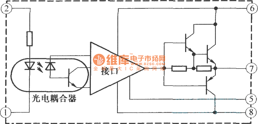 m57957l  m57958l internal structure and working principle diagram - basic circuit