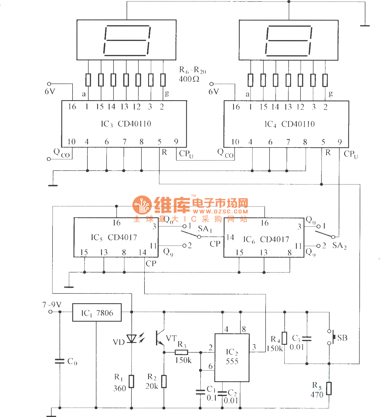 Digital Display Type Photoelectric Counting Circuit Diagram 2 Electronic Thermometer2 Sensorcircuit Seekic