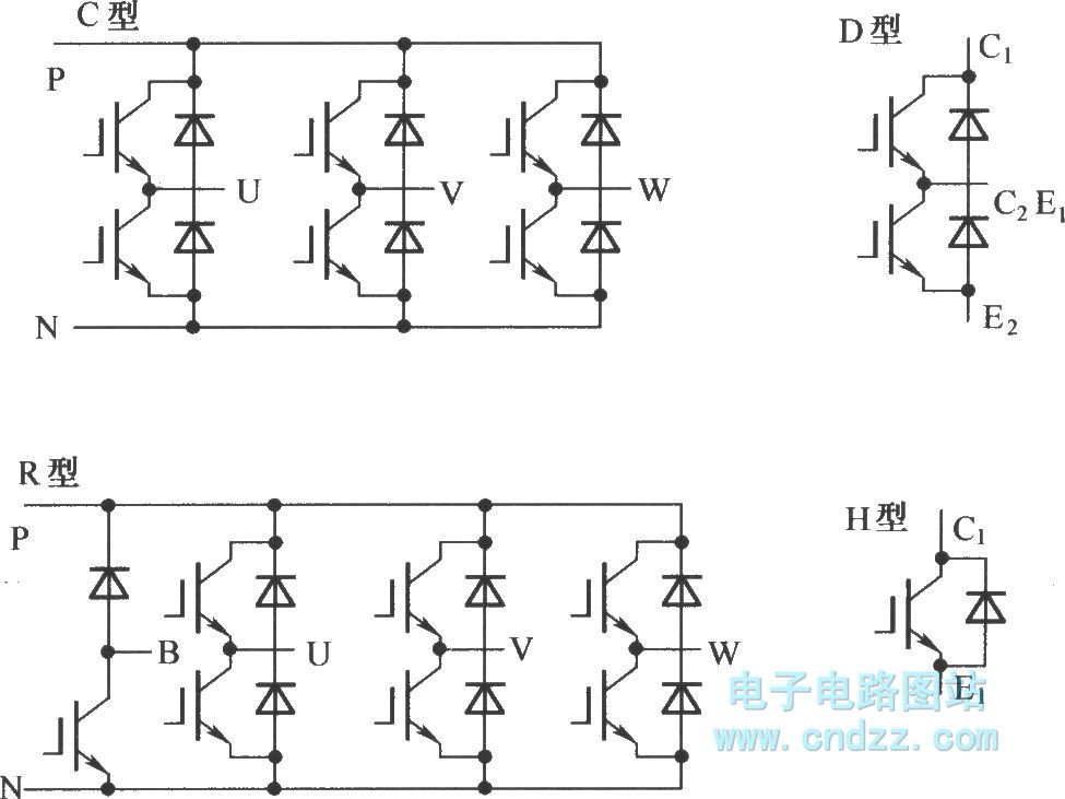 the package of mitsubishi ipm - electrical equipment circuit - circuit diagram
