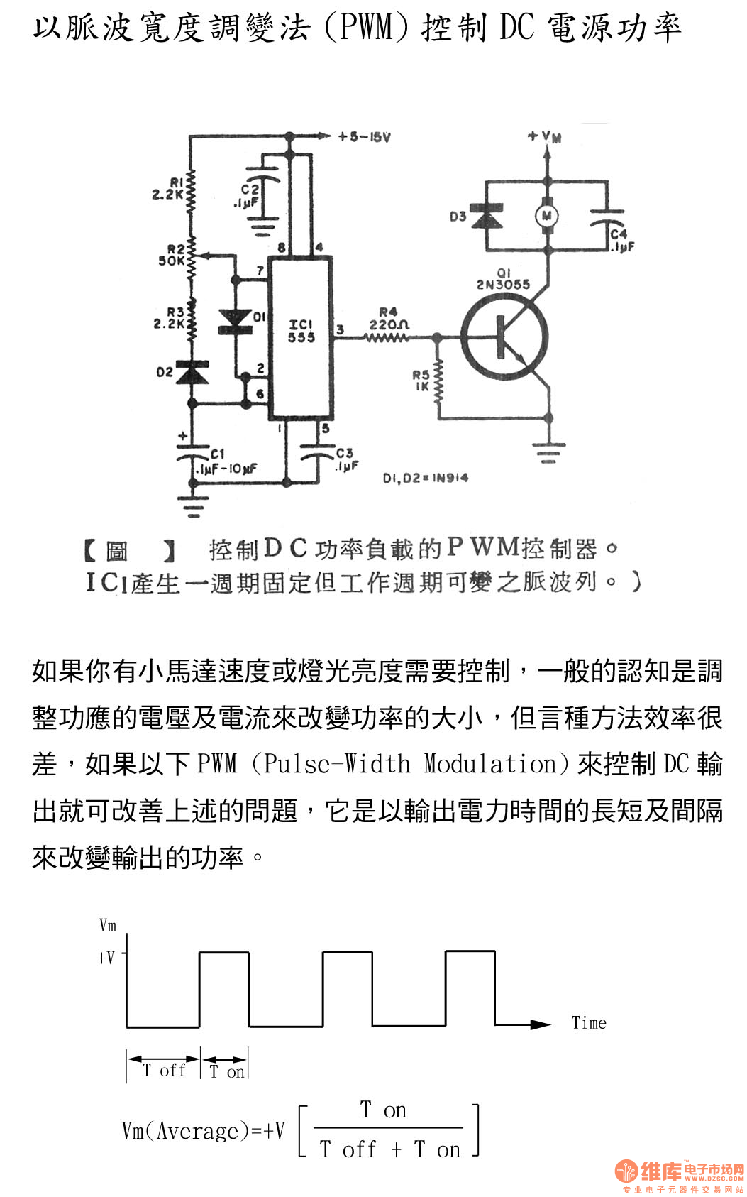 Pwm Controller Of Controlling Dc Power Load Circuit Diagram And Schematic Principle Analysis555