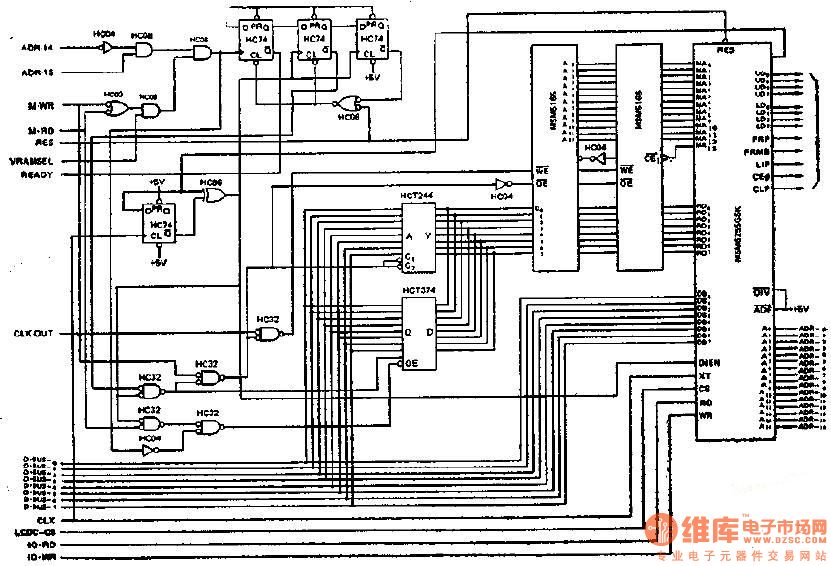 synchronous access mode realization circuit diagram of