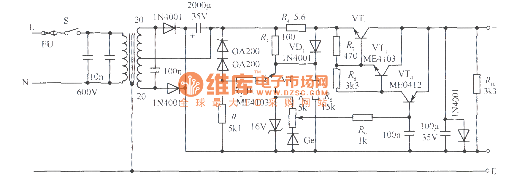 Limiter Powersupplycircuit Circuit Diagram Seekiccom Wiring Regulated Power Supply Audio 015v With Current Limiting