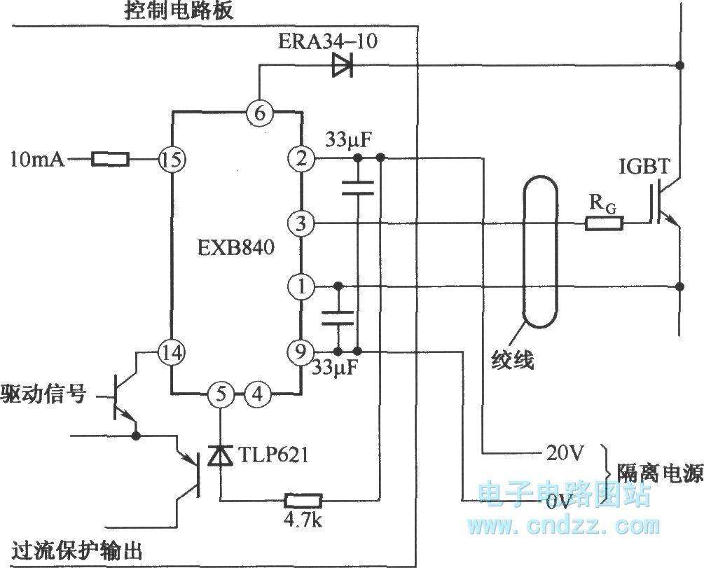 application circuit of exb840