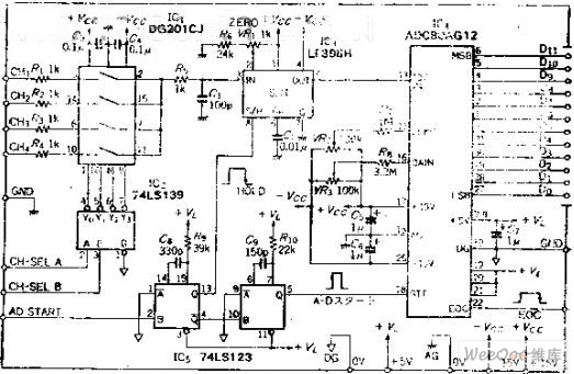 formed by common components 4 input 12-bit a-d converter diagram - a-d converter
