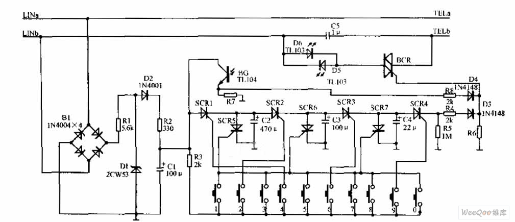 Fabulous Two Way Telephone Password Device Circuit Diagram Telephone Wiring Database Gramgelartorg