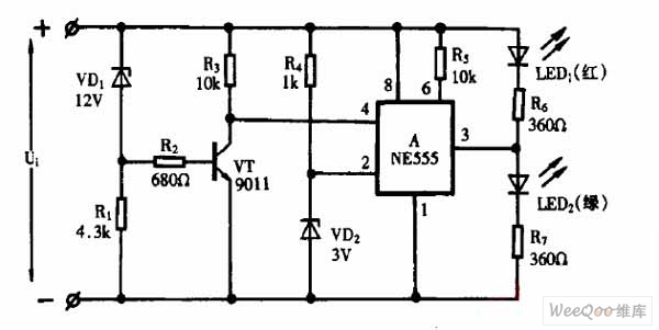 using ne555 skillfully as dc voltage monitor circuit