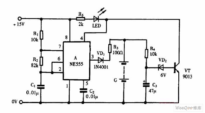 using ne555 skillfully as pulsing nickel-cadmium battery charger circuit 1
