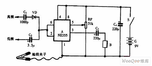 using ne555 skillfully as high and low frequency signal