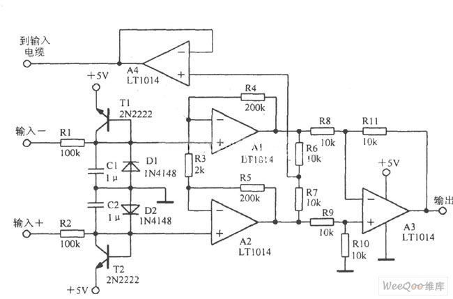 the typical amplifier circuit of a precision instrument - amplifier circuit