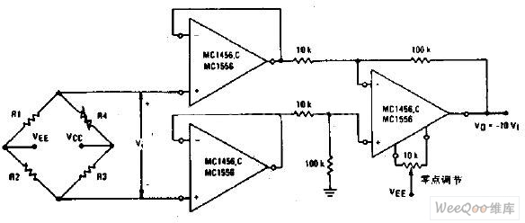 impedance bridge amplifier circuit