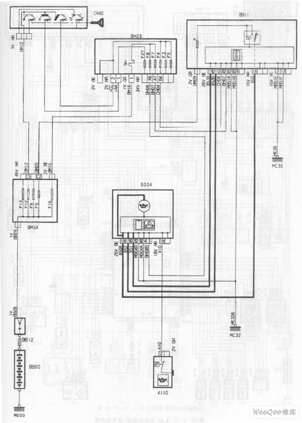 the engine oil pressure circuit of the dpca-picasso 2 0l car