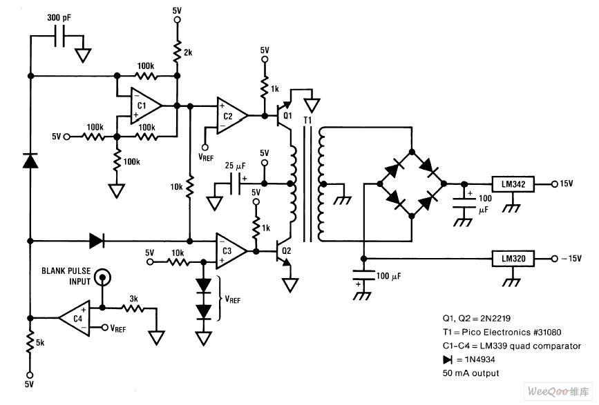 5V to 15v dcdc converter