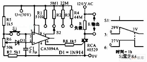 the predetermined analog timer circuit diagram - electrical equipment circuit