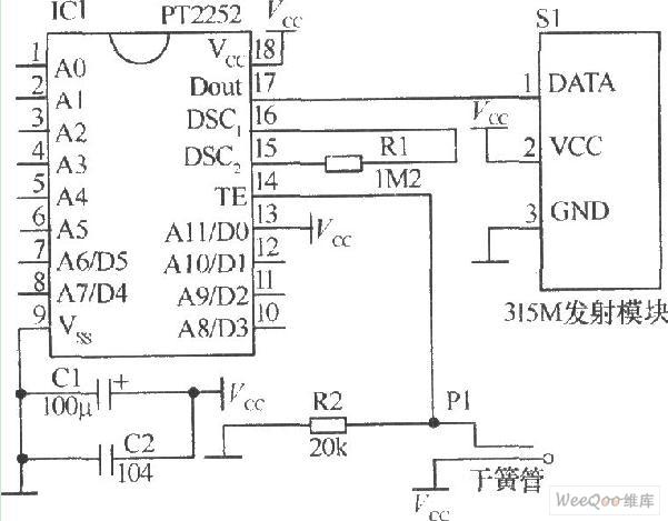 magnetic induction transmitter circuit - communication circuit - circuit diagram