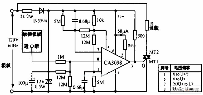 touch switch circuit - control circuit - circuit diagram