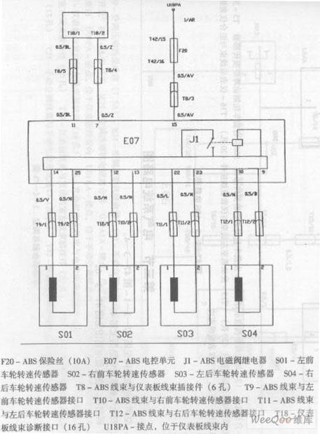 zhonghua saloon car abs circuit 1 - automotive circuit - circuit diagram