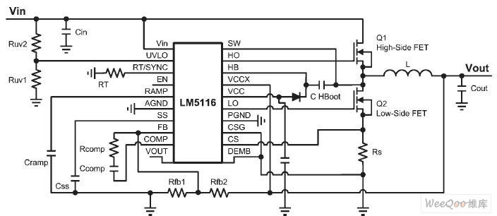 synchronous step-down voltage stabilizer circuit