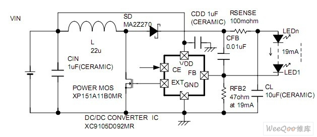 high efficiency circuit uses the xc9103 and xc6367 series to  high efficiency circuit uses the xc9103