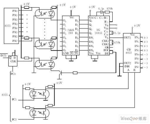 anti-jamming circuit principle diagram with four analog input channels - other circuit