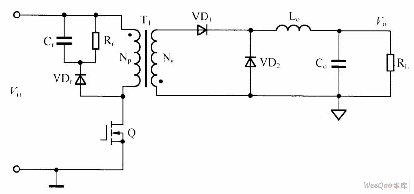 single-end flyback dc-dc converter circuit