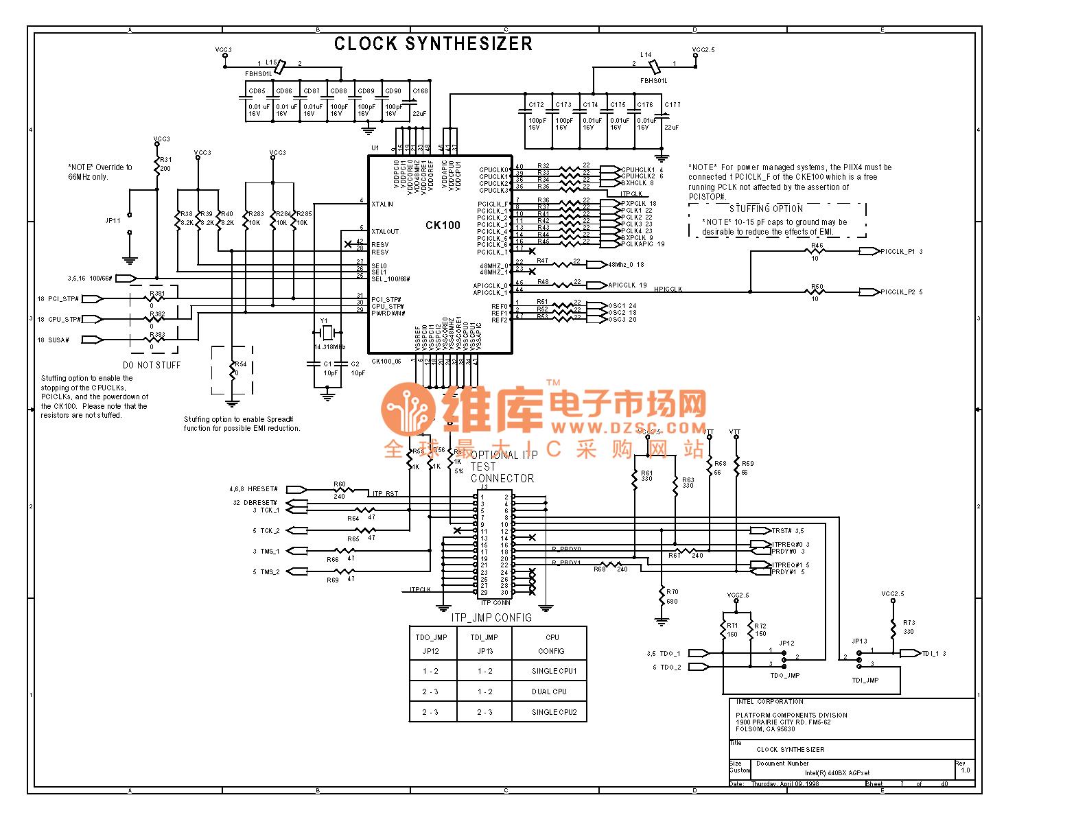 Pc Mainboard Circuit 440bx 07 Computer Related Diagram 19 Computerrelatedcircuit